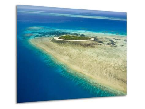 Aerial View of Green Island, The Great Barrier Reef, Cairns Area, North Coast, Queensland-Walter Bibikow-Metal Print