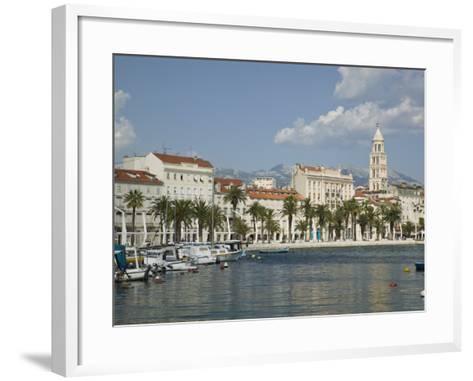 Split Harbor Late Afternoon, Central Dalmatia, Croatia-Walter Bibikow-Framed Art Print