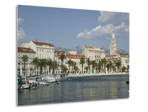 Split Harbor Late Afternoon, Central Dalmatia, Croatia-Walter Bibikow-Metal Print