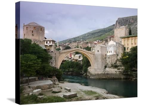 The Old Bridge Stari Most, Mostar, Bosnia-Hercegovia-Walter Bibikow-Stretched Canvas Print