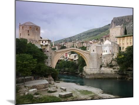 The Old Bridge Stari Most, Mostar, Bosnia-Hercegovia-Walter Bibikow-Mounted Photographic Print