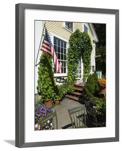 Vineyard Chairs, North Tisbury, Martha's Vineyard, Massachusetts, USA-Walter Bibikow-Framed Art Print