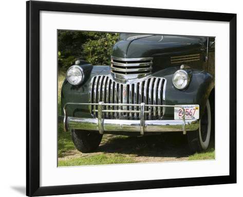 1930's Cheverolet Pickup Truck, West Tisbury, Martha's Vineyard, Massachusetts, USA-Walter Bibikow-Framed Art Print