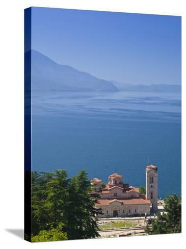 Sveti Kliment I Pantelejmon Church, Ohrid, Macedonia-Walter Bibikow-Stretched Canvas Print