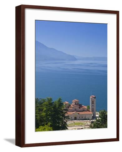 Sveti Kliment I Pantelejmon Church, Ohrid, Macedonia-Walter Bibikow-Framed Art Print