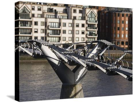 Millenium Bridge, London, England-Walter Bibikow-Stretched Canvas Print