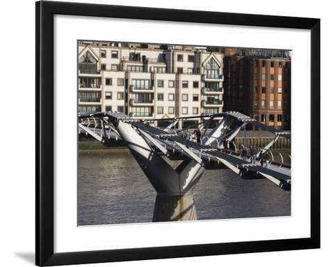 Millenium Bridge, London, England-Walter Bibikow-Framed Art Print