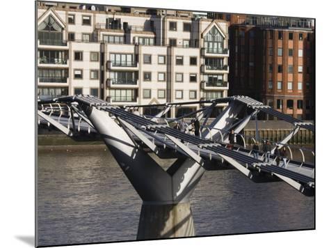Millenium Bridge, London, England-Walter Bibikow-Mounted Photographic Print