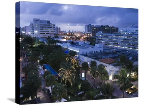 Lincoln Road Pedestrian Area, South Beach, Miami Beach, Florida, USA-Walter Bibikow-Stretched Canvas Print