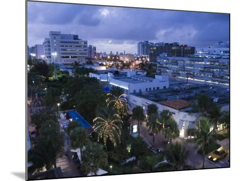 Lincoln Road Pedestrian Area, South Beach, Miami Beach, Florida, USA-Walter Bibikow-Mounted Photographic Print