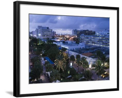 Lincoln Road Pedestrian Area, South Beach, Miami Beach, Florida, USA-Walter Bibikow-Framed Art Print