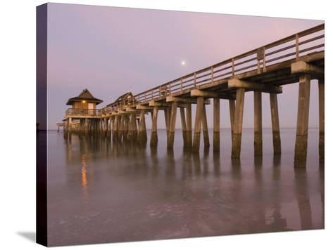 Naples Pier, Naples, Florida, USA-Walter Bibikow-Stretched Canvas Print