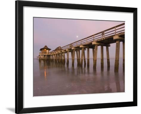 Naples Pier, Naples, Florida, USA-Walter Bibikow-Framed Art Print