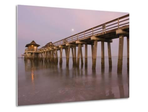 Naples Pier, Naples, Florida, USA-Walter Bibikow-Metal Print