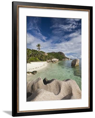 Anse Source D'Argent Beach, L'Union Estate Plantation, La Digue Island, Seychelles-Walter Bibikow-Framed Art Print
