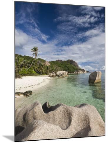 Anse Source D'Argent Beach, L'Union Estate Plantation, La Digue Island, Seychelles-Walter Bibikow-Mounted Photographic Print