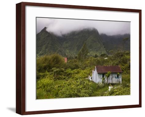 Small Creole-style cabin, Plaine-des-Palmistes, Reunion Island, France-Walter Bibikow-Framed Art Print