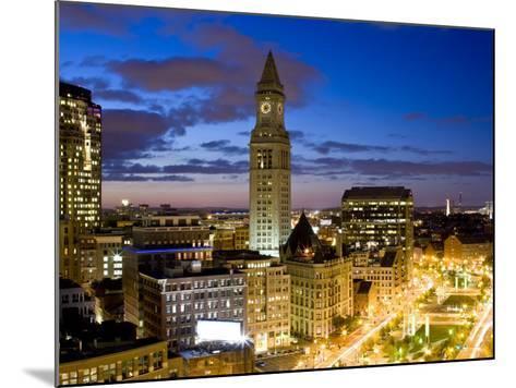 Atlantic Avenue Greenway and Customs House, Boston, Massachusetts, USA-Walter Bibikow-Mounted Photographic Print