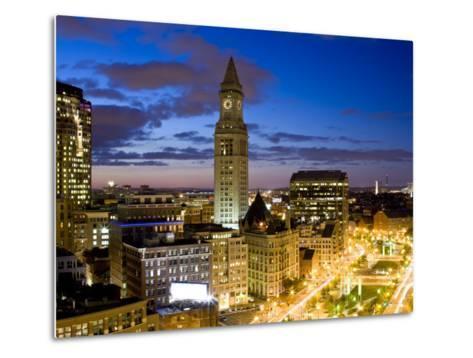 Atlantic Avenue Greenway and Customs House, Boston, Massachusetts, USA-Walter Bibikow-Metal Print
