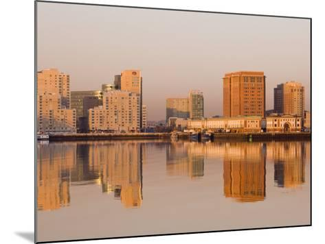 Fish Pier and South Boston from Logan Airport, Boston, Massachusetts, USA-Walter Bibikow-Mounted Photographic Print