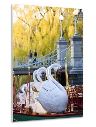 Swanboats, Public Garden, Boston, Massachusetts, USA-Walter Bibikow-Metal Print