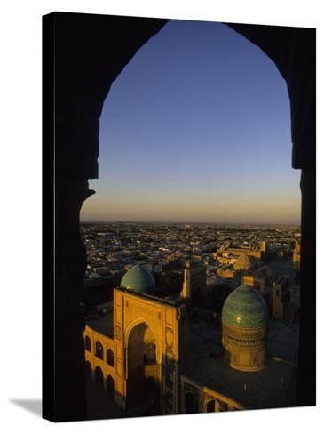 View of Kalyan Mosque,Bukhara, Uzbekistan-Ellen Clark-Stretched Canvas Print