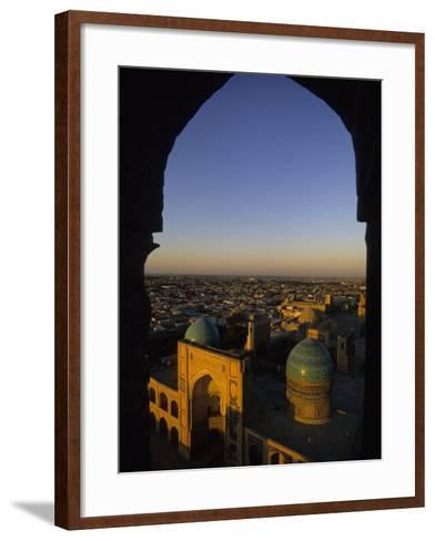 View of Kalyan Mosque,Bukhara, Uzbekistan-Ellen Clark-Framed Art Print