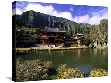 Byodo-in Temple, Oahu, Hawaii, USA-Michael DeFreitas-Stretched Canvas Print