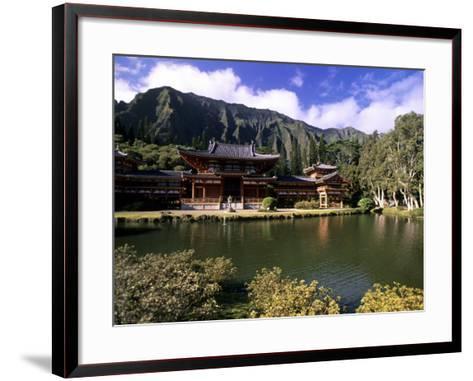 Byodo-in Temple, Oahu, Hawaii, USA-Michael DeFreitas-Framed Art Print