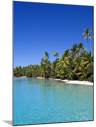 Palm Lined Beach, Cook Islands-Michael DeFreitas-Mounted Photographic Print