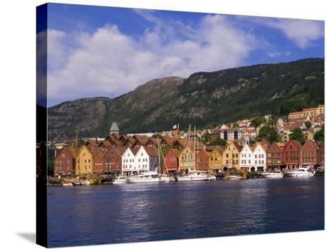 Bryggen Shopping District, Bergen, Norway-Michael DeFreitas-Stretched Canvas Print