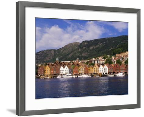 Bryggen Shopping District, Bergen, Norway-Michael DeFreitas-Framed Art Print