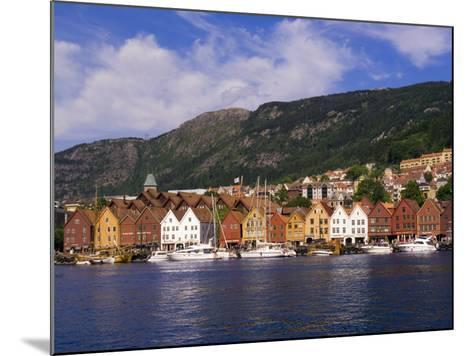 Bryggen Shopping District, Bergen, Norway-Michael DeFreitas-Mounted Photographic Print