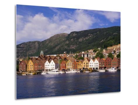 Bryggen Shopping District, Bergen, Norway-Michael DeFreitas-Metal Print