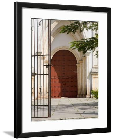 Church on Main Roadway, Celestun, Mexico-Julie Eggers-Framed Art Print