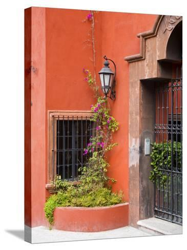 Exterior of a House, San Miguel, Guanajuato State, Mexico-Julie Eggers-Stretched Canvas Print