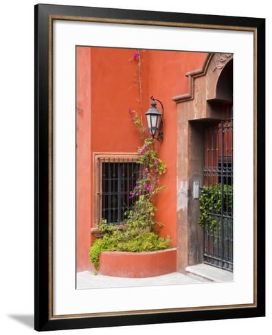 Exterior of a House, San Miguel, Guanajuato State, Mexico-Julie Eggers-Framed Art Print