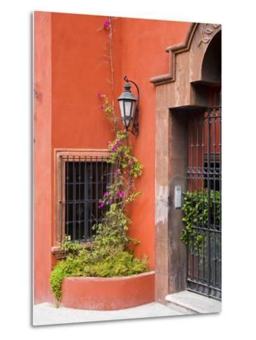 Exterior of a House, San Miguel, Guanajuato State, Mexico-Julie Eggers-Metal Print