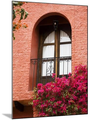 Window With Balcony, San Miguel De Allende, Guanajuato State, Central Mexico-Julie Eggers-Mounted Photographic Print