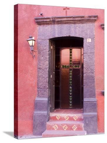 Glass Door Entrance,San Miguel, Guanajuato State, Mexico-Julie Eggers-Stretched Canvas Print