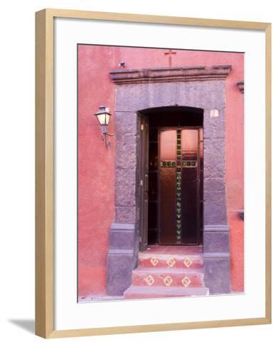 Glass Door Entrance,San Miguel, Guanajuato State, Mexico-Julie Eggers-Framed Art Print