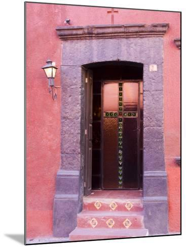 Glass Door Entrance,San Miguel, Guanajuato State, Mexico-Julie Eggers-Mounted Photographic Print