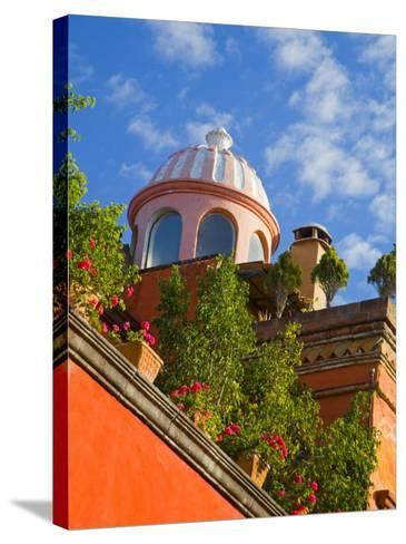 Dome of A Church, San Miguel De Allende, Guanajuato State, Mexico-Julie Eggers-Stretched Canvas Print