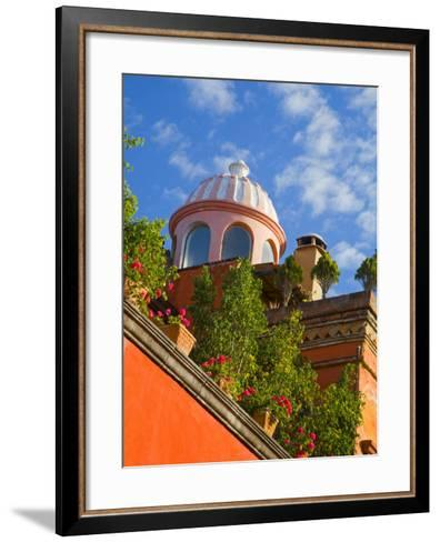 Dome of A Church, San Miguel De Allende, Guanajuato State, Mexico-Julie Eggers-Framed Art Print