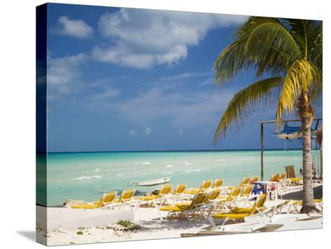 Lounging Chairs, Isla Mujeres, Quintana Roo, Mexico-Julie Eggers-Stretched Canvas Print