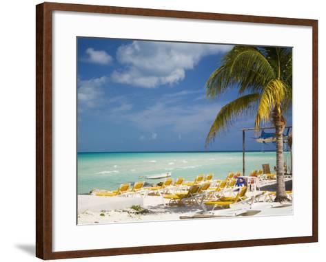 Lounging Chairs, Isla Mujeres, Quintana Roo, Mexico-Julie Eggers-Framed Art Print