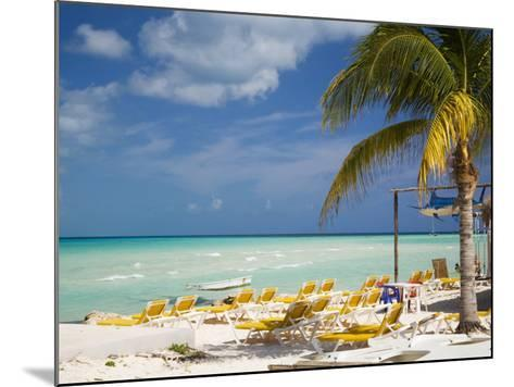 Lounging Chairs, Isla Mujeres, Quintana Roo, Mexico-Julie Eggers-Mounted Photographic Print