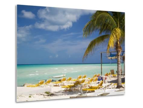 Lounging Chairs, Isla Mujeres, Quintana Roo, Mexico-Julie Eggers-Metal Print