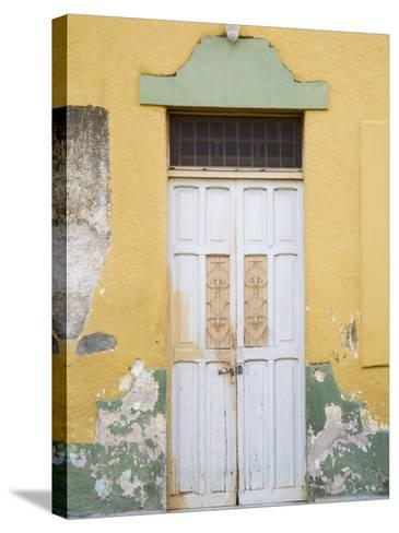 Colorful Doors, Merida, Yucatan, Mexico-Julie Eggers-Stretched Canvas Print