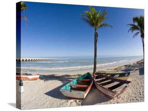 Beach of Progreso, Yucatan, Mexico-Julie Eggers-Stretched Canvas Print
